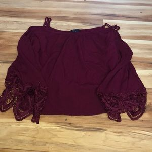 Cold Shoulder Top with lace